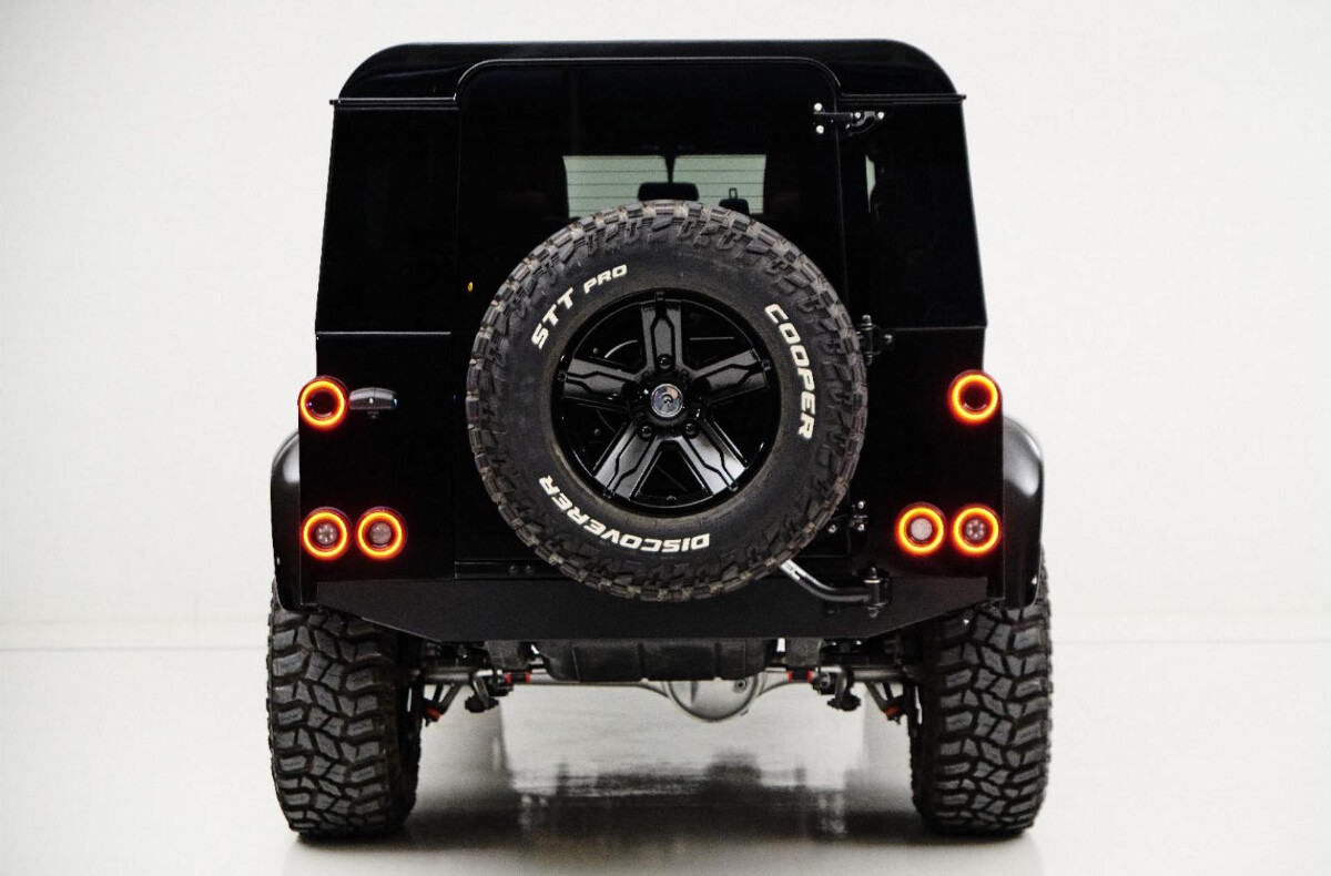 The Land Rover Defender modified by Ares Design -  Rear View