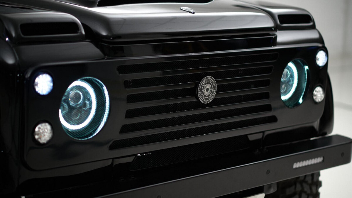 The Land Rover Defender headlamp modified by Ares Design