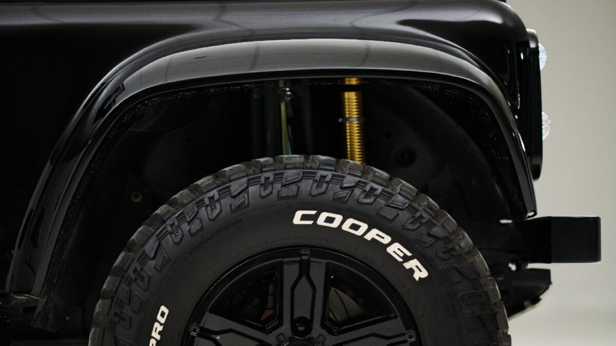 The Land Rover Defender modified by Ares Design - Front Wheel Detail