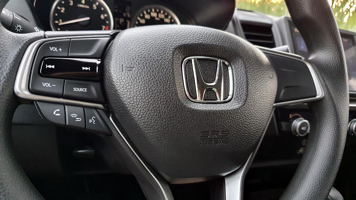 The 2021 Honda City 1.5 S CVT Steering Wheel Close  Up