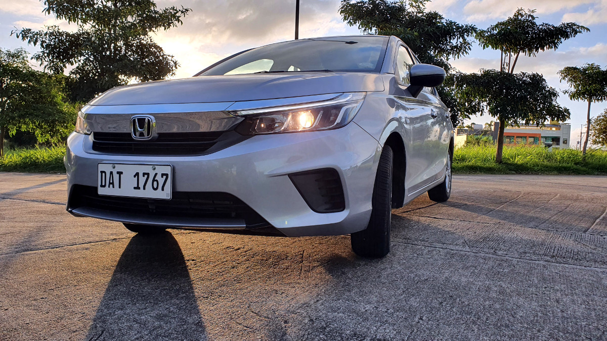 The 2021 Honda City 1.5 S CVT Front View Parked