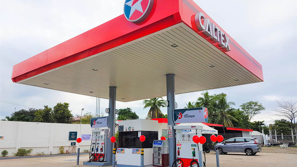 A Caltex Gasoline Station in the Philippines