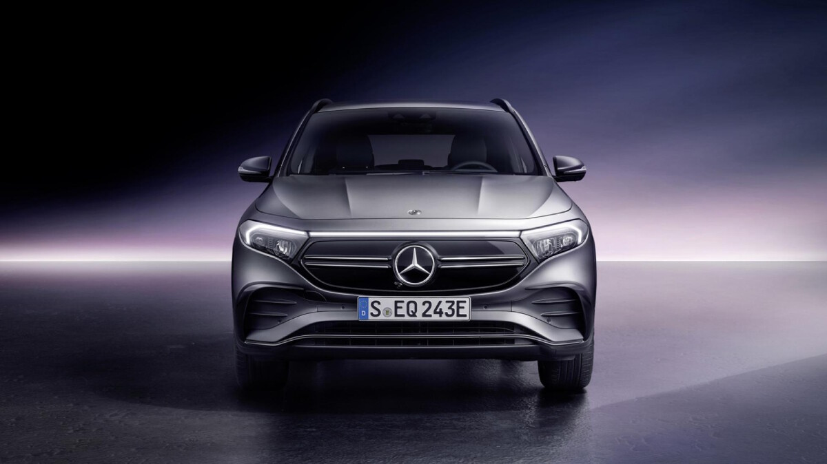 The Mercedes-Benz EQA  - Front View