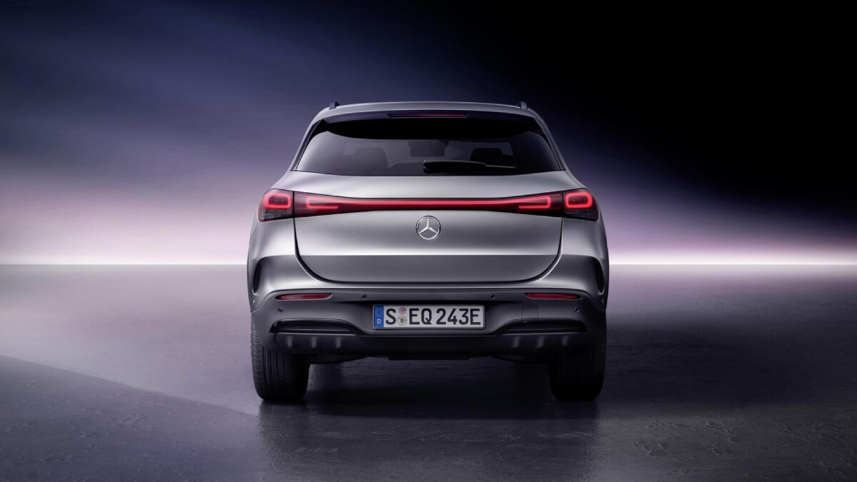 The Mercedes-Benz EQA  - Rear View
