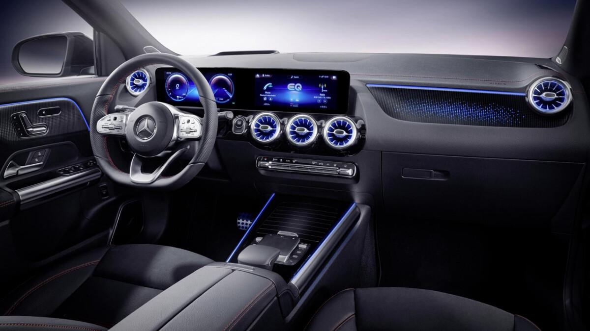 The Mercedes-Benz EQA  - Dashboard, Passenger's Seat POV