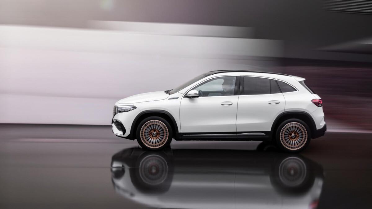 The Mercedes-Benz EQA  - White, Profile