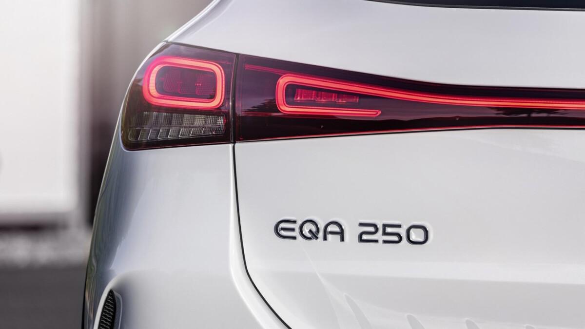 The Mercedes-Benz EQA  - EQA 250 Emblem, Rear