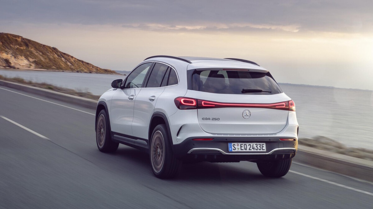 The Mercedes-Benz EQA - Rear View, On the Road