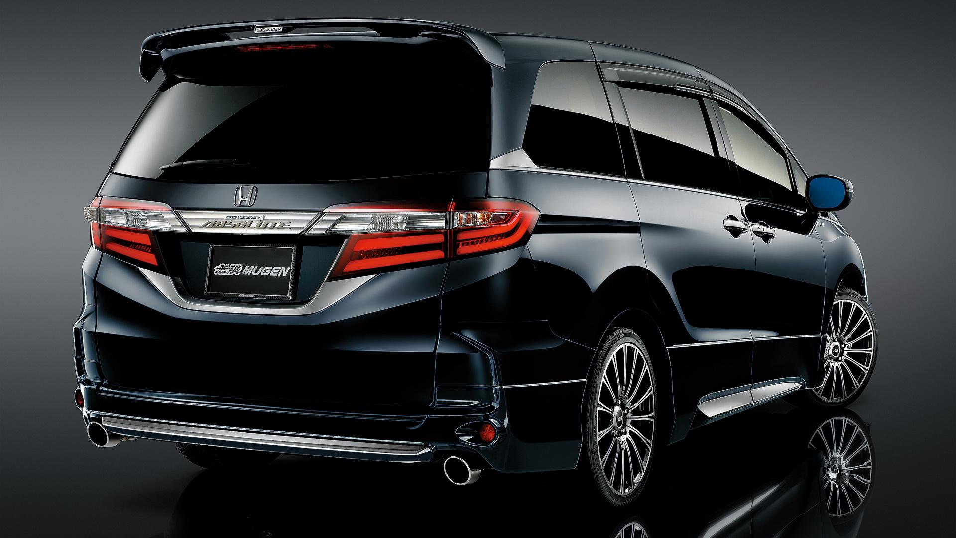 The Honda Odyssey with Mugen Kits - Black, Rear Angle