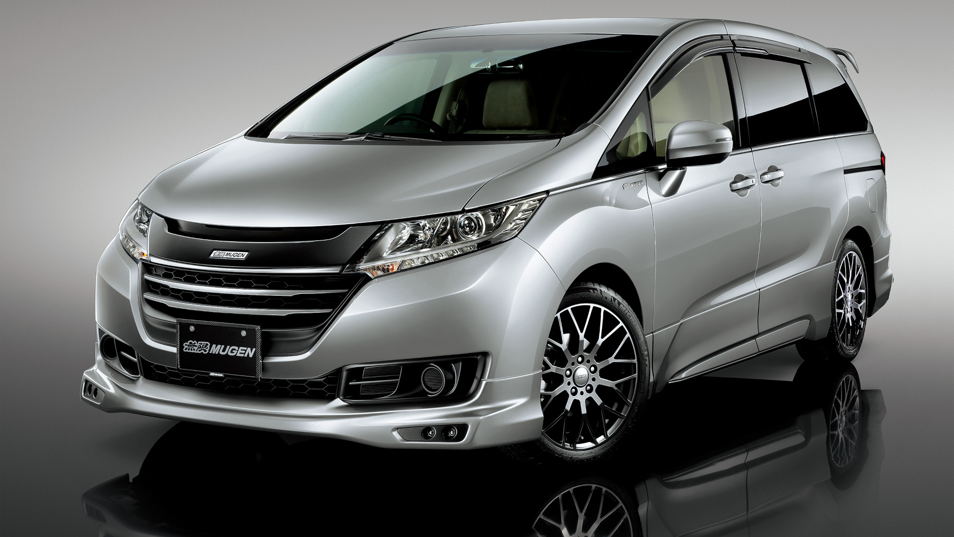 The Honda Odyssey with Mugen Kits - Silver, Front Angle