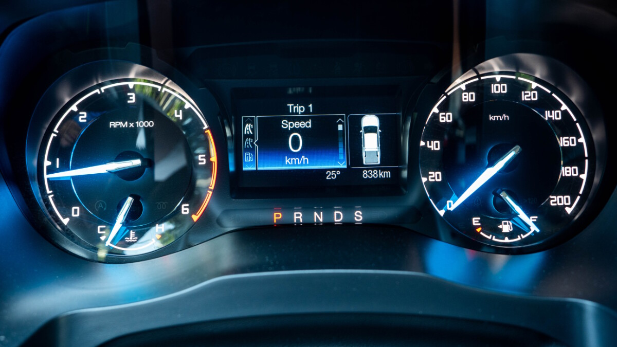 The 2020 Ford Ranger FX4 4x2 AT - Odometer
