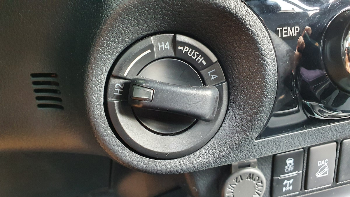 The Toyota Hilux Conquest - Four-Wheel Drive Switch