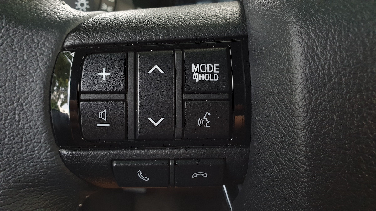 The Toyota Hilux Conquest - Steering Wheel Media Controls