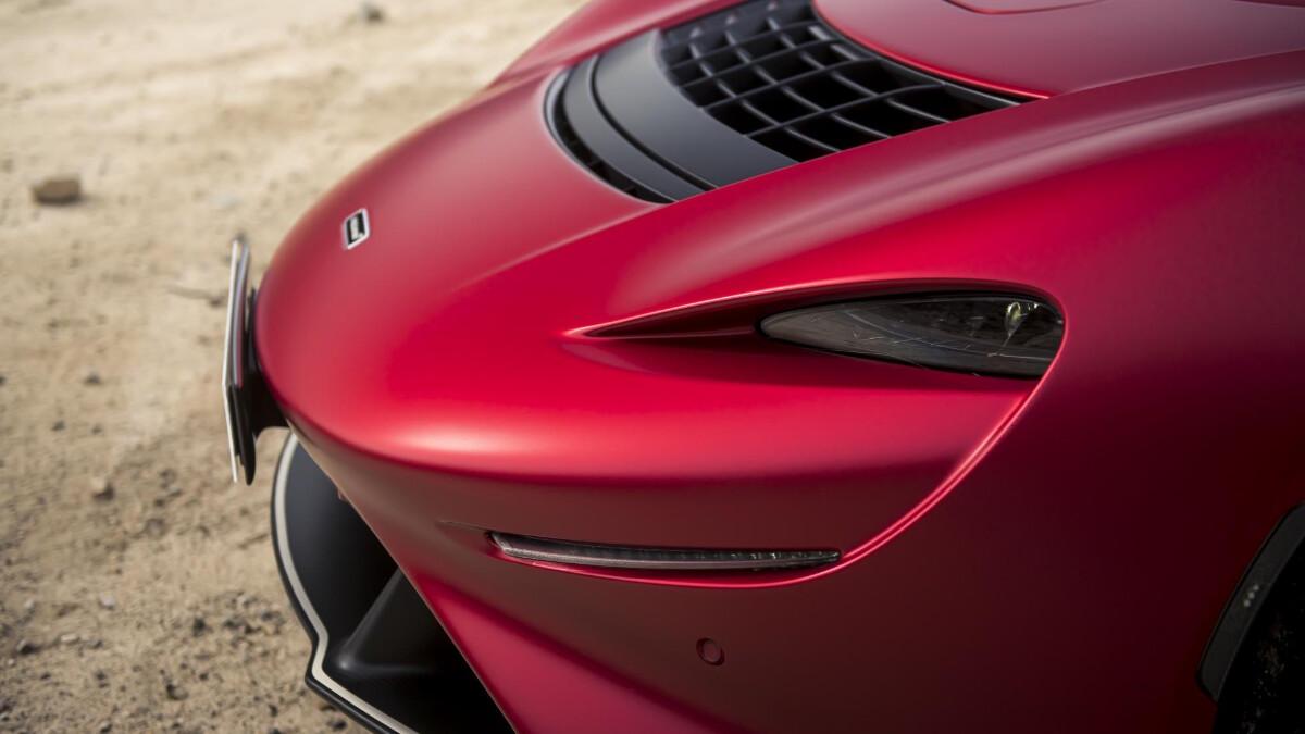 The McLaren Elva - Front Angle Close Up