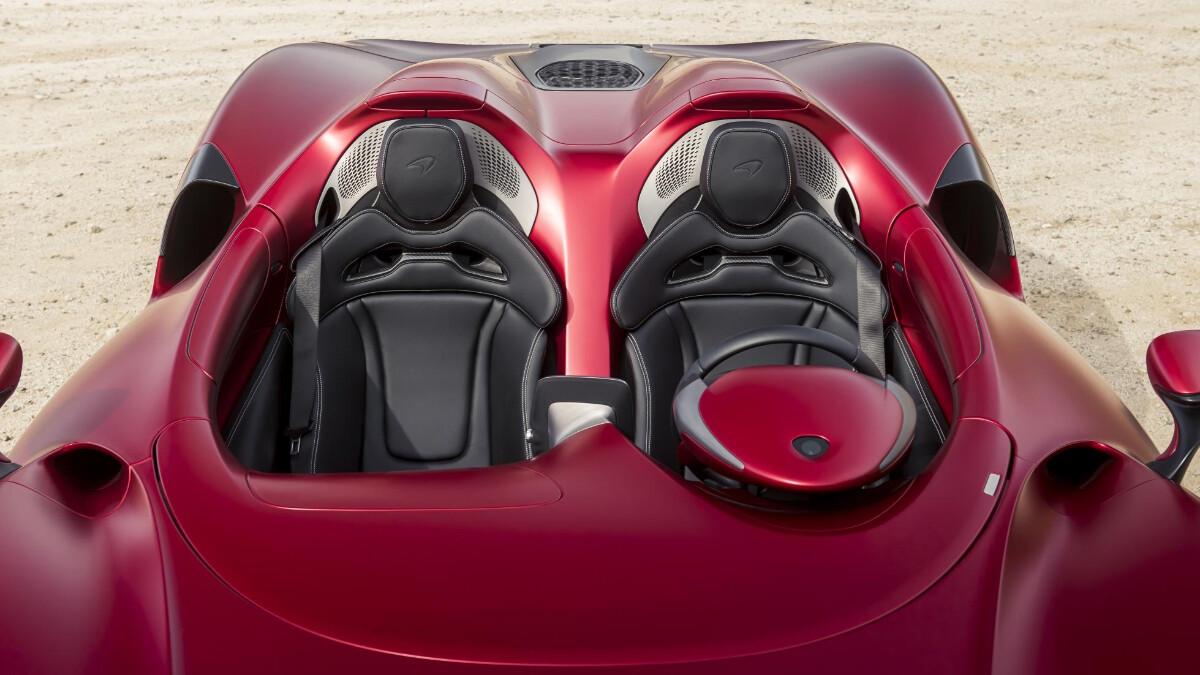 The McLaren Elva - Passenger Seats Top View