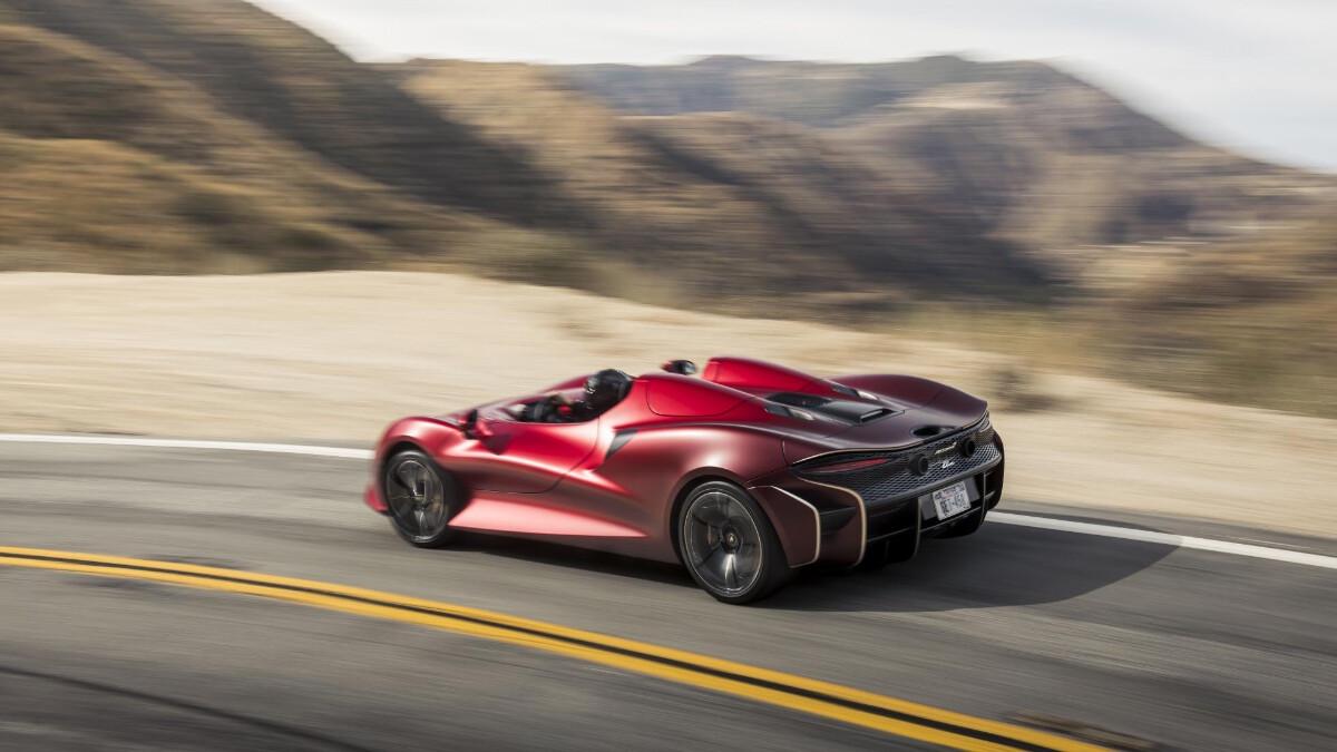 The McLaren Elva - Top Angled View