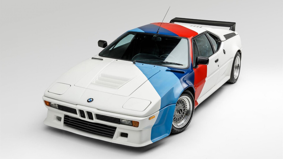 Paul Walker's BMW M1 - Top View Angled