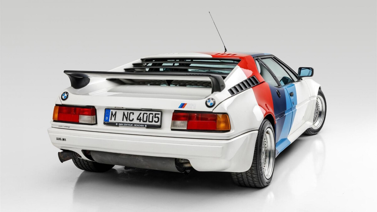 Paul Walker's BMW M1 - Rear View Angled