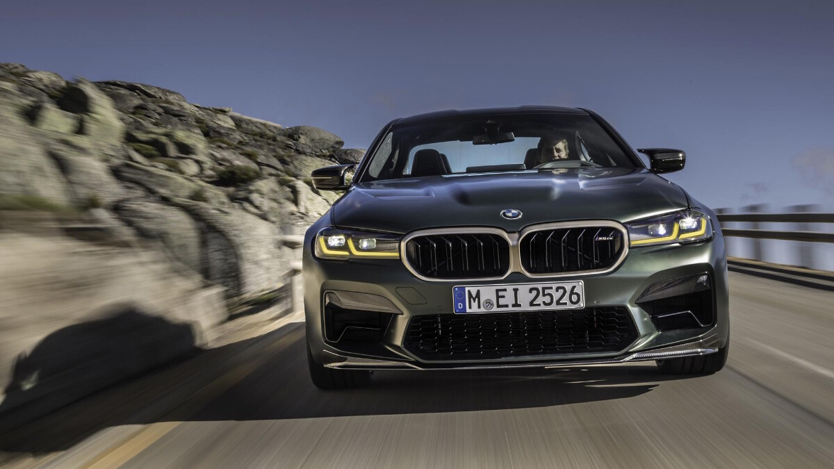 BMW M5 CS - On the road, front view