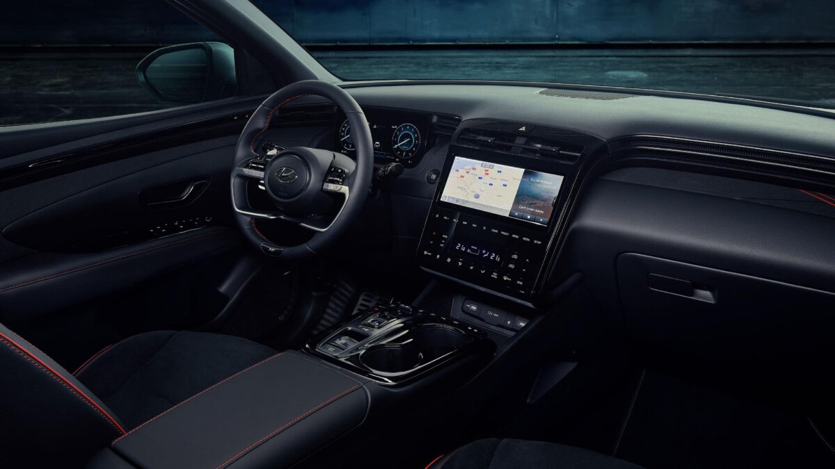 The Tucson N Line - Interior, Steering Wheel and Dashboard
