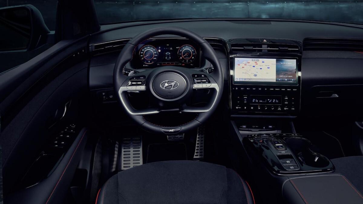 The Tucson N Line - Steering Wheel