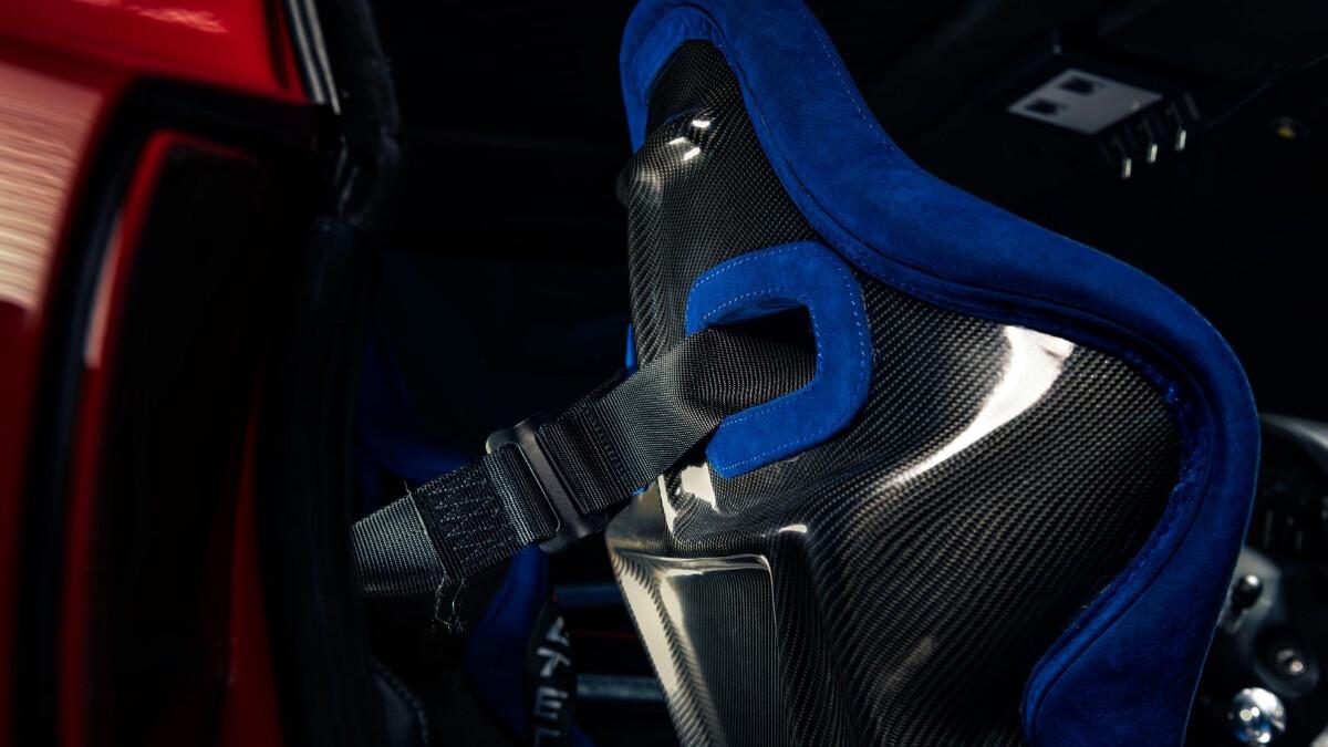 The Ferrari Breadvan Hommage- Passenger Seat Rear View