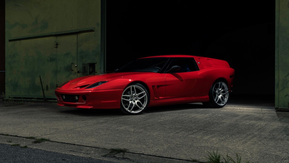 The Ferrari Breadvan Hommage - Front Angle View