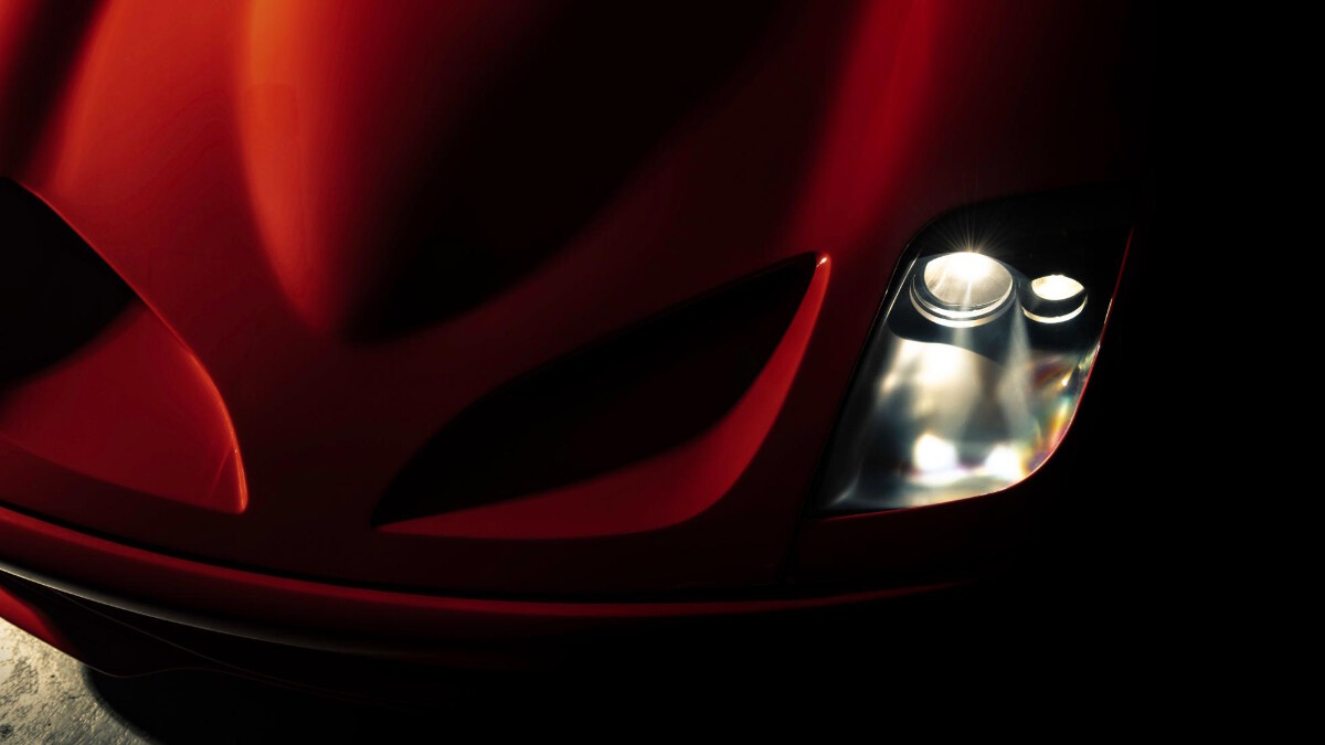 The Ferrari Breadvan Hommage - Head lamp close up detail