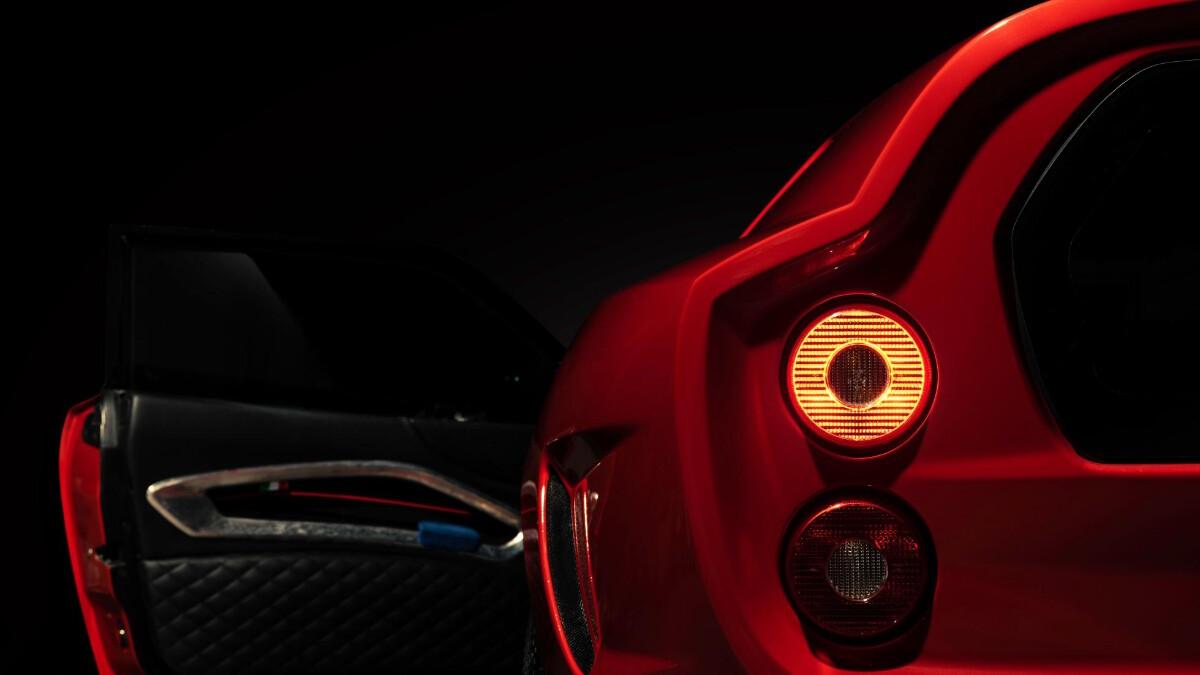 The Ferrari Breadvan Hommage - Open driver's door, rear POV