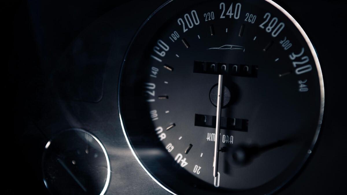 The Ferrari Breadvan Hommage - Odometer close up