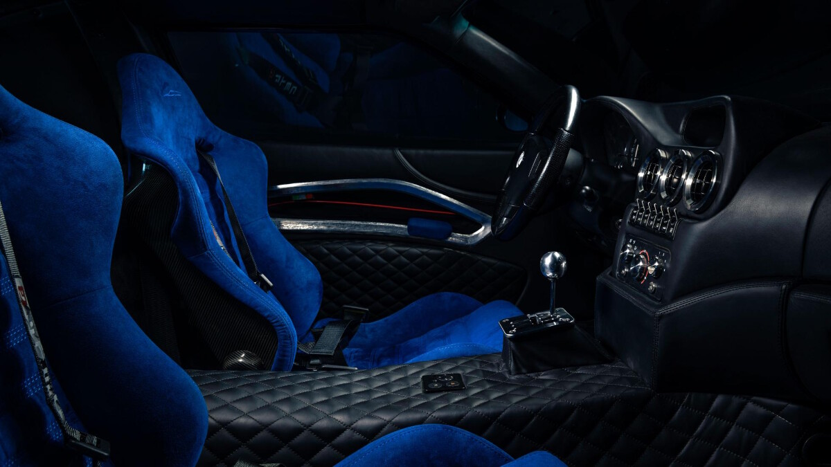 The Ferrari Breadvan Hommage - Interior, passenger's seat POV