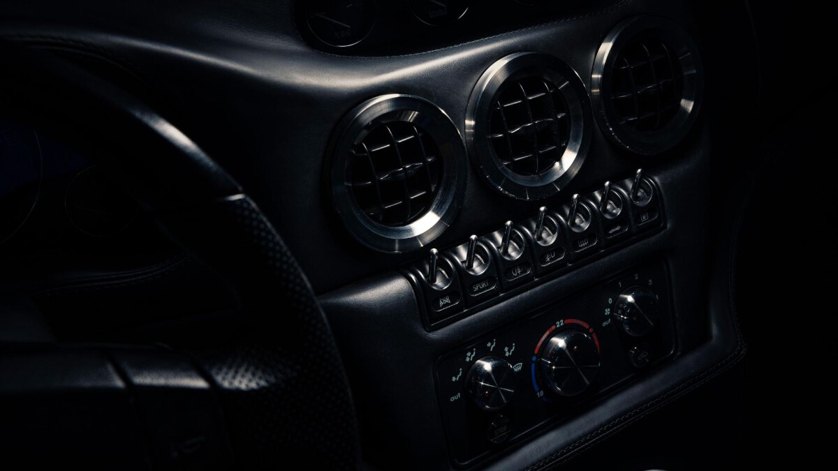 The Ferrari Breadvan Hommage - Dashboard Control Panel Detail