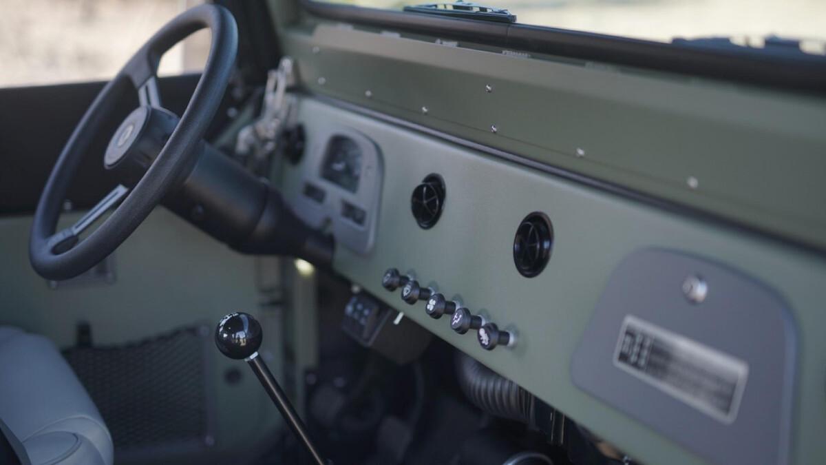 The Toyota FJ44 Land Cruiser - Steering Wheel and Dashboard