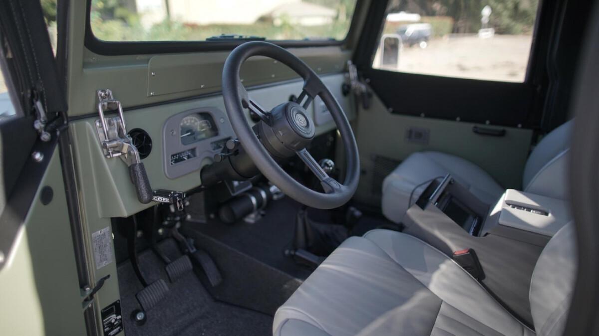 The Toyota FJ44 Land Cruiser - Interior from Driver's Seat POV