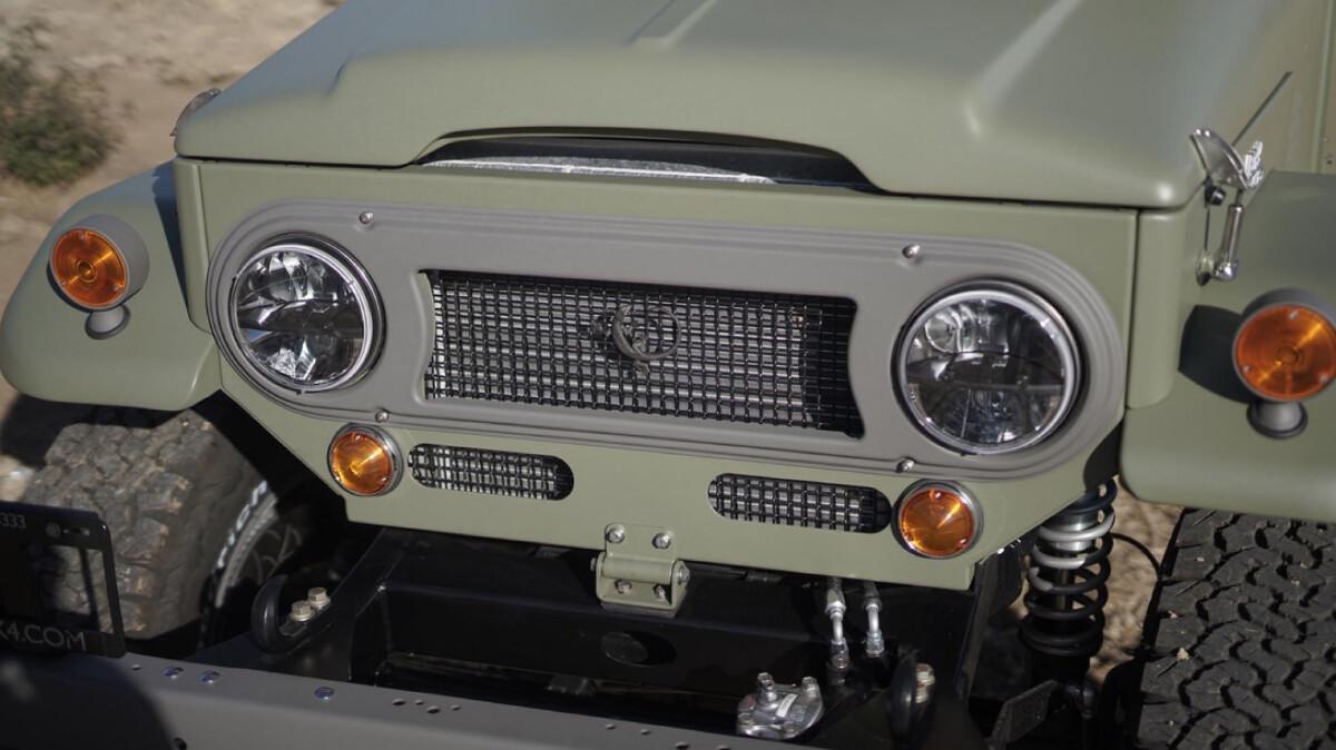 The Toyota FJ44 Land Cruiser - Front Detail