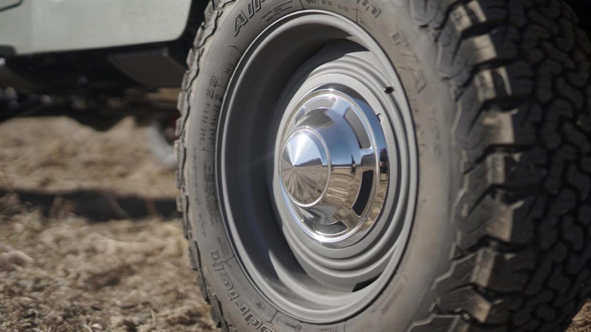 The Toyota FJ44 Land Cruiser - Wheel Detail