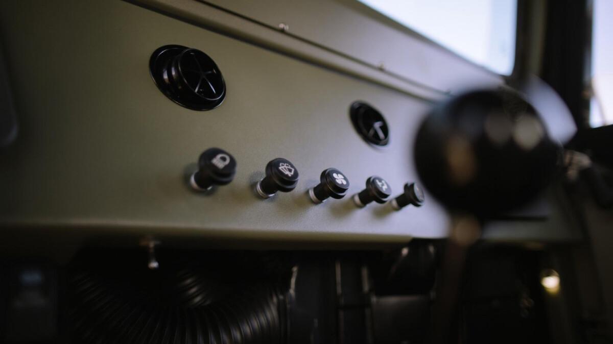 The Toyota FJ44 Land Cruiser - Dashboard Control Panel