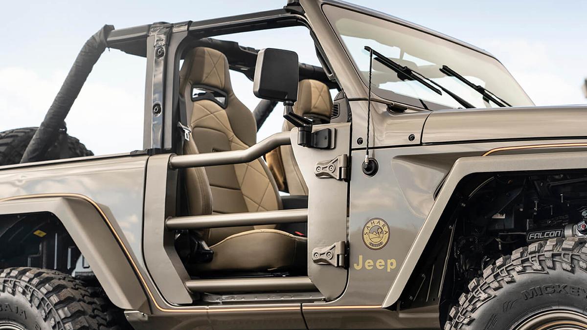 The Quadratec Jeep Wrangler - Passenger's Seat Angle View