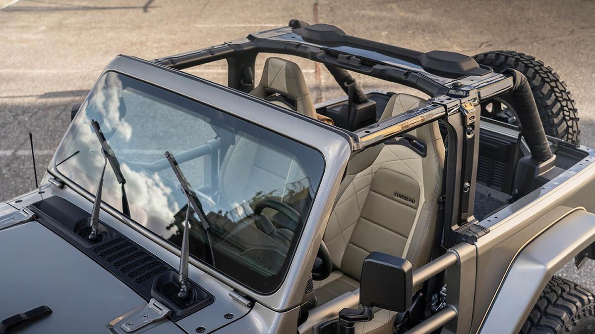 The Quadratec Jeep Wrangler - Angled Top View