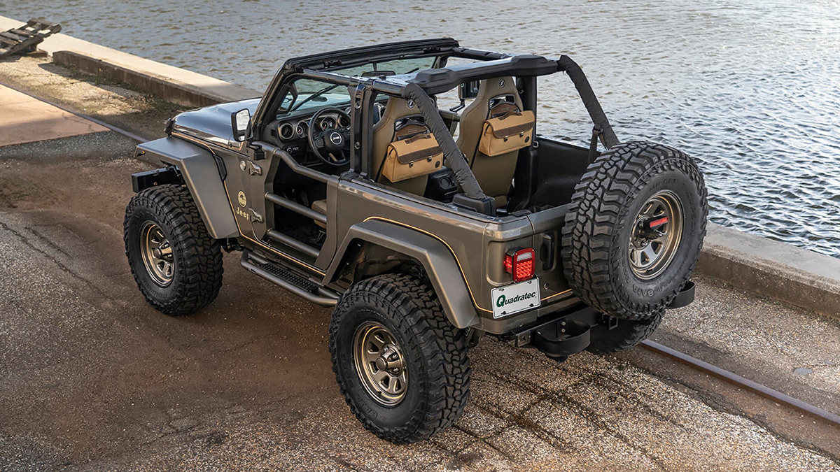 The Quadratec Jeep Wrangler - Angled Top View, Rear