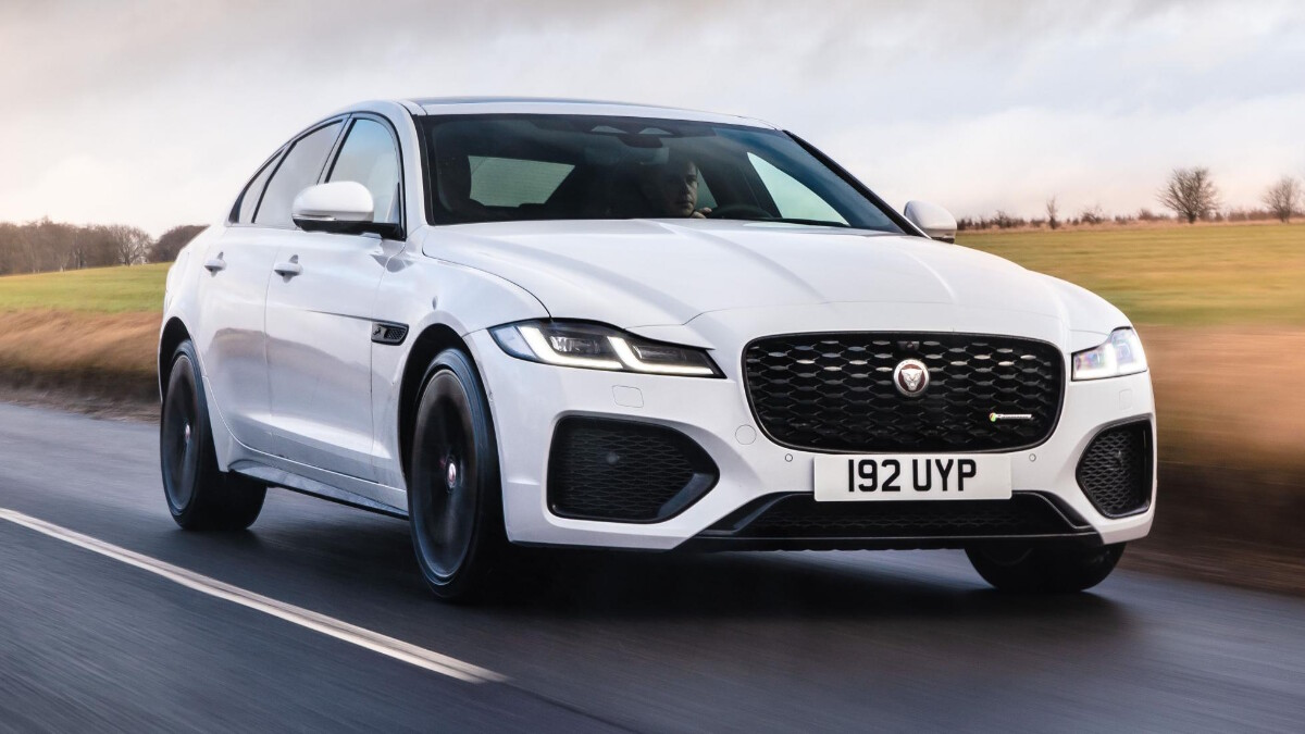 Jaguar XF P300 R-Dynamic - Front Angle, On the Road