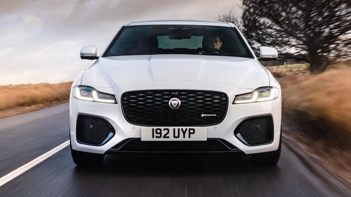 Jaguar XF P300 R-Dynamic - Front View, On the Road