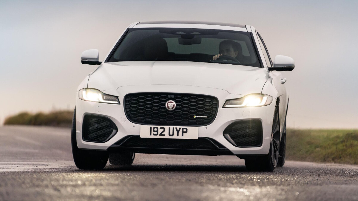 Jaguar XF P300 R-Dynamic - Front View In Action