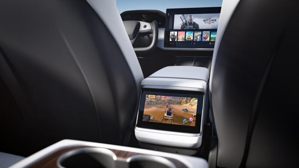 The Tesla Model S  - Rear Display