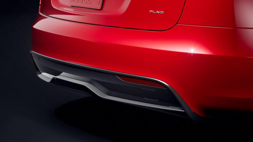 The Tesla Model S  - Rear Angled View