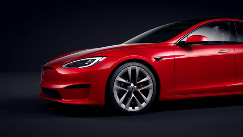 The Tesla Model S - Front Profile
