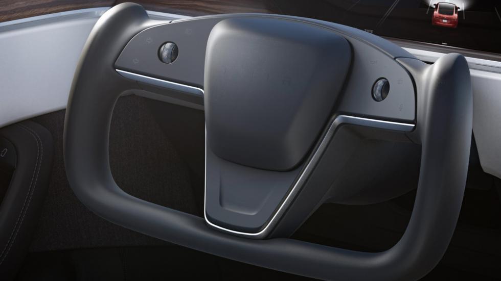 The Tesla Model S  - Steering Wheel