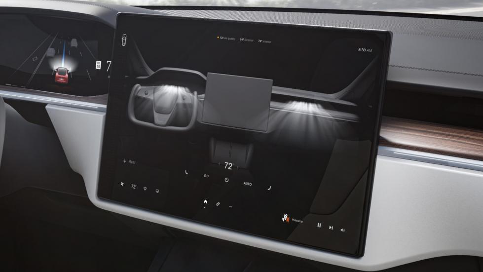 The Tesla Model S  - Display Panel Controls