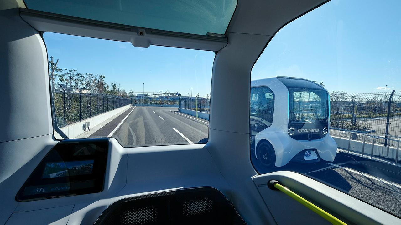 The Toyota e-Palette - POV from Interior