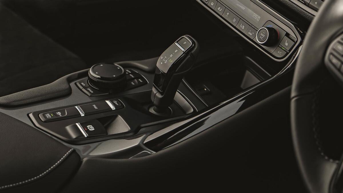 2021 Toyota Supra 2.0 center console with gear shift
